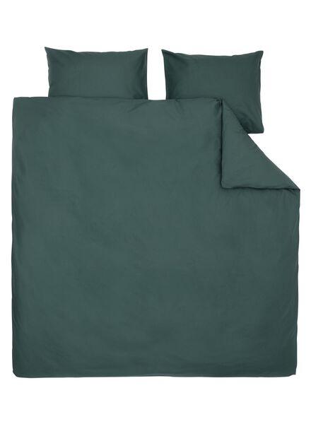 dekbedovertrek - zacht katoen - 240 x 220 cm - donkergroen uni donkergroen 240 x 220 - 5750054 - HEMA