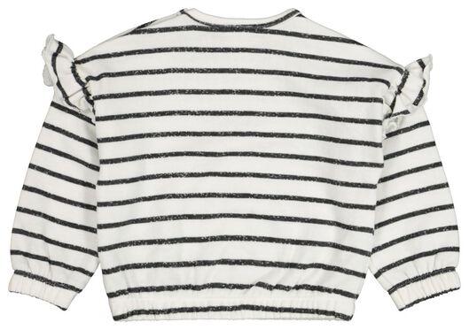 babysweater streep zwart/wit - 1000021198 - HEMA