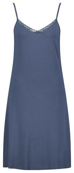 damesnachthemd kant viscose blauw blauw - 1000024195 - HEMA