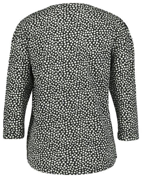 dames t-shirt stip zwart L - 36374783 - HEMA