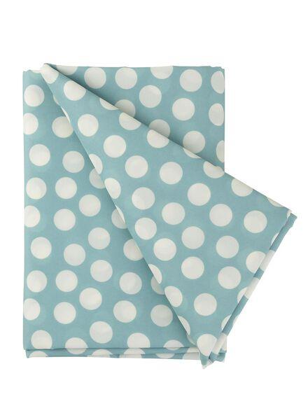 tafelkleed - 140 x 200 - polyester - blauw stip - 5360026 - HEMA