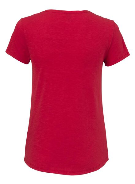 dames t-shirt rood - 1000009362 - HEMA