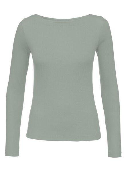 dames t-shirt zeegroen zeegroen - 1000008766 - HEMA