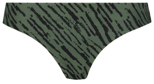 dames bikinibroekje - zebra legergroen M - 22340892 - HEMA