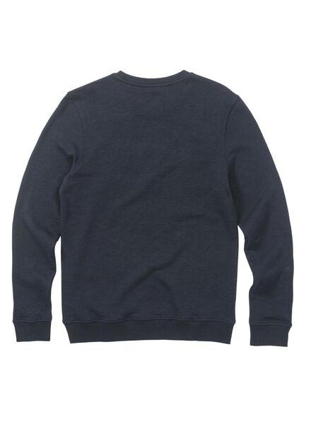 herensweater donkerblauw donkerblauw - 1000009602 - HEMA