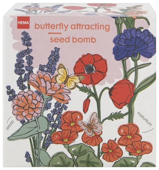 bloemzaadbom kit vlinders - 41810269 - HEMA