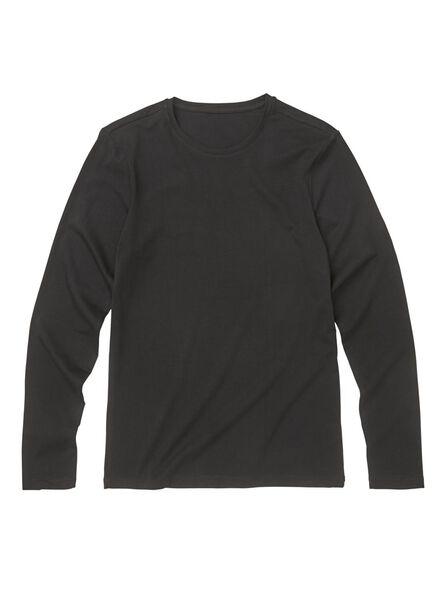 heren t-shirt - slim fit zwart zwart - 1000009854 - HEMA