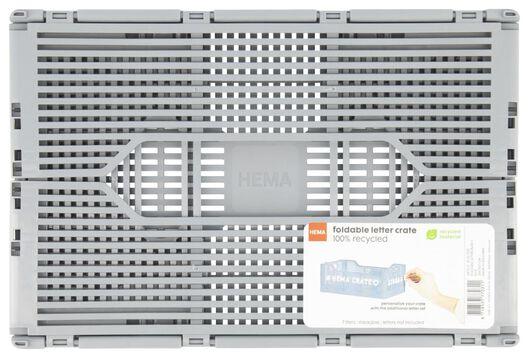 klapkratje letterbord recycled 20x30x11.5 - grijs - 39821032 - HEMA