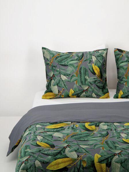 dekbedovertrek - 140x200/220 - hotel katoen satijn - tropische bladeren - 5730083 - HEMA