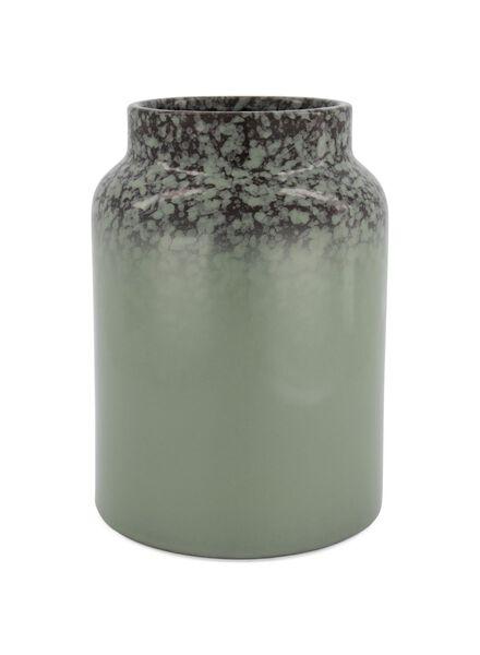 vaas - 26 x Ø 12 cm - groen reactief glazuur - 13392046 - HEMA