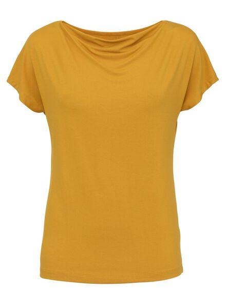 dames t-shirt geel geel - 1000008278 - HEMA