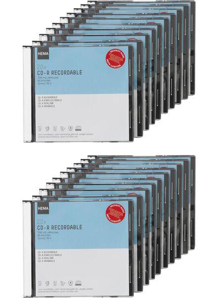 20-pak cd-r 700MB - 39529624 - HEMA