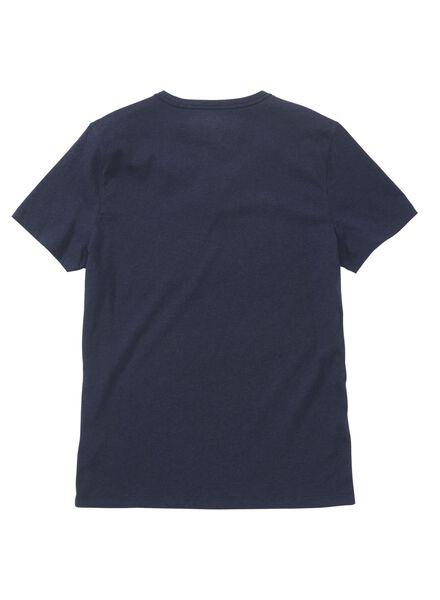 heren t-shirt blauw blauw - 1000011839 - HEMA