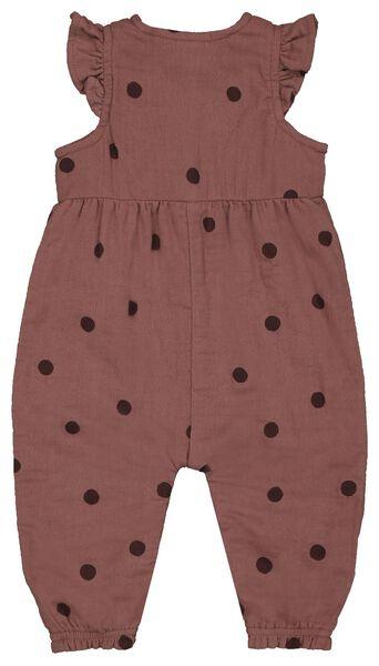 newborn jumpsuit mousseline oudroze oudroze - 1000022879 - HEMA