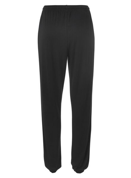 dames pyjamabroek viscose zwart - 1000011760 - HEMA