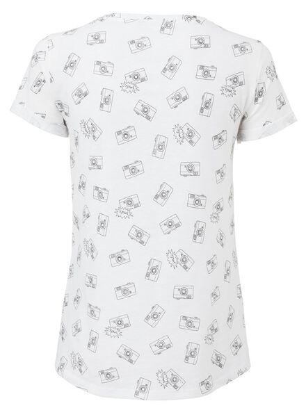 dames t-shirt gebroken wit gebroken wit - 1000003314 - HEMA