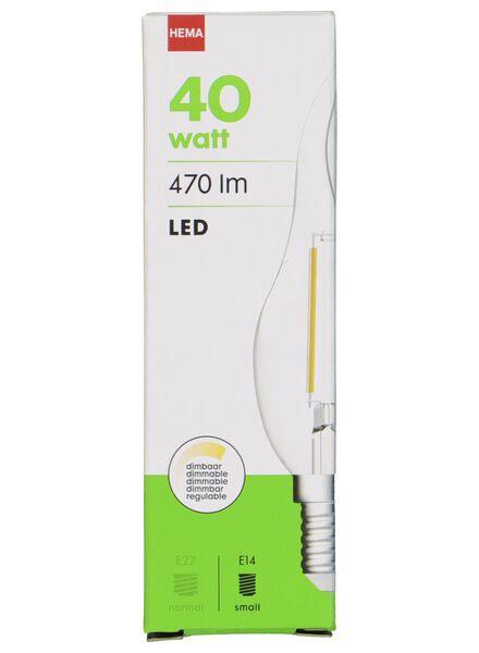 LED lamp 40W - 470 lm - kaars - helder - 20020023 - HEMA