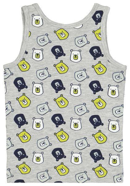 2-pak kinderhemden beren grijsmelange grijsmelange - 1000021743 - HEMA