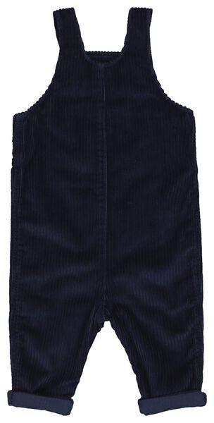 baby salopette rib donkerblauw - 1000021404 - HEMA