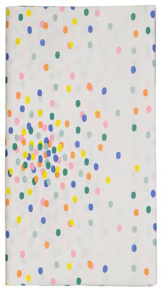 tafelkleed papier 138x220 confetti - 14200287 - HEMA