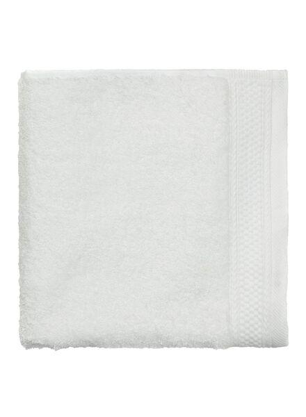handdoek - 50 x 100 cm - hotel extra zwaar - wit uni wit handdoek 50 x 100 - 5240067 - HEMA
