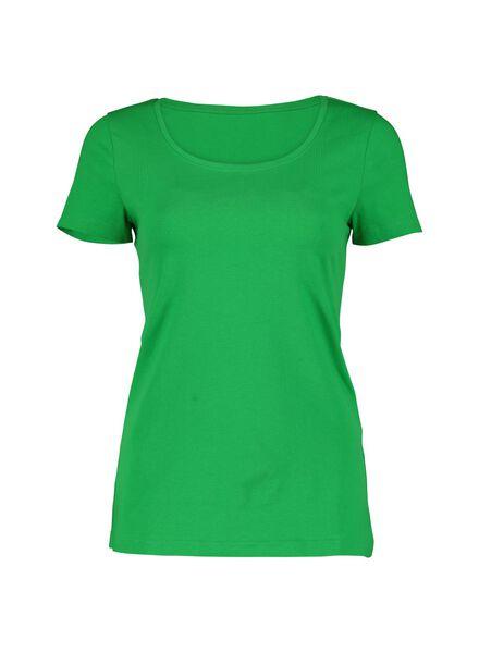 dames t-shirt groen groen - 1000013734 - HEMA