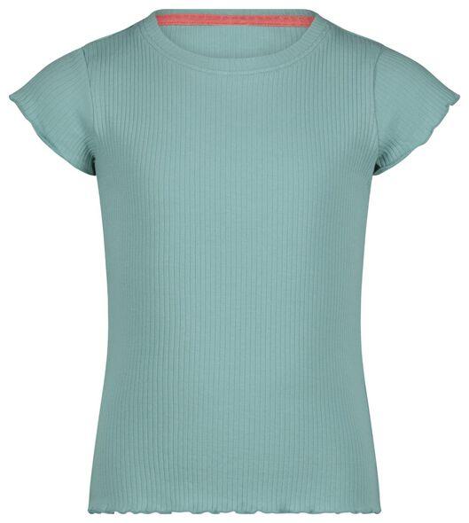 kinder t-shirt rib groen groen - 1000023584 - HEMA