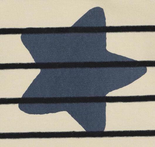 baby t-shirt strepen en ster gebroken wit gebroken wit - 1000019994 - HEMA