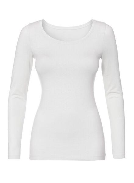 dames t-shirt wit wit - 1000005478 - HEMA