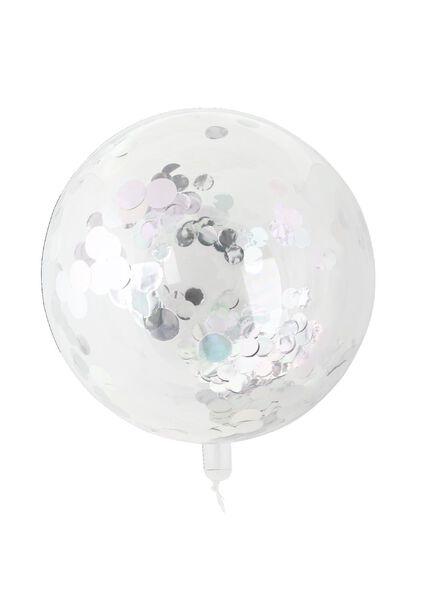 folieballon met confetti 50 cm - 60800661 - HEMA