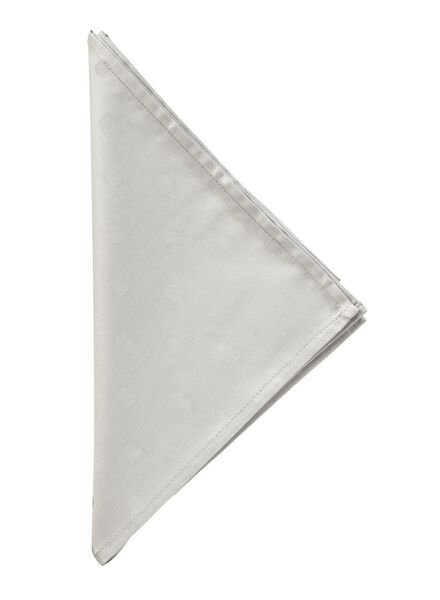 servet - 48 x 48 - katoen - lichtgrijs stip - 5303784 - HEMA