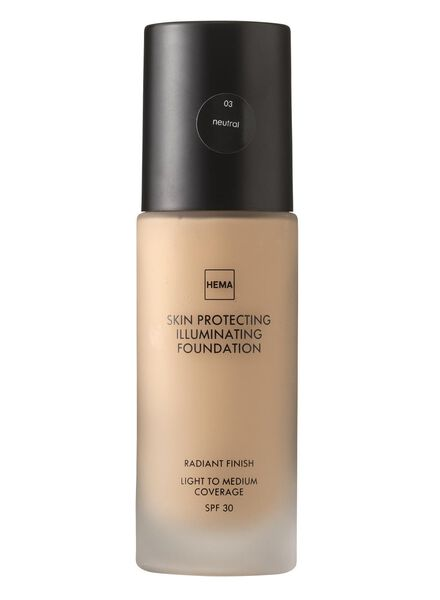 skin protecting illuminating foundation Neutral 03 - 11291903 - HEMA