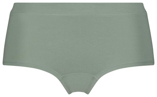 damesboxer real lasting cotton groen L - 19666193 - HEMA