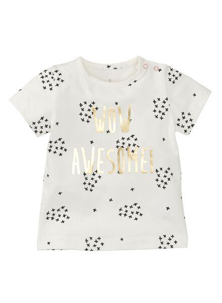 baby t-shirt gebroken wit gebroken wit - 1000008307 - HEMA