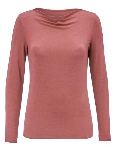 dames t-shirt donkerroze donkerroze - 1000012078 - HEMA