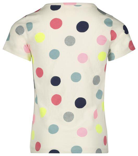 kinder t-shirt stippen gebroken wit gebroken wit - 1000023145 - HEMA