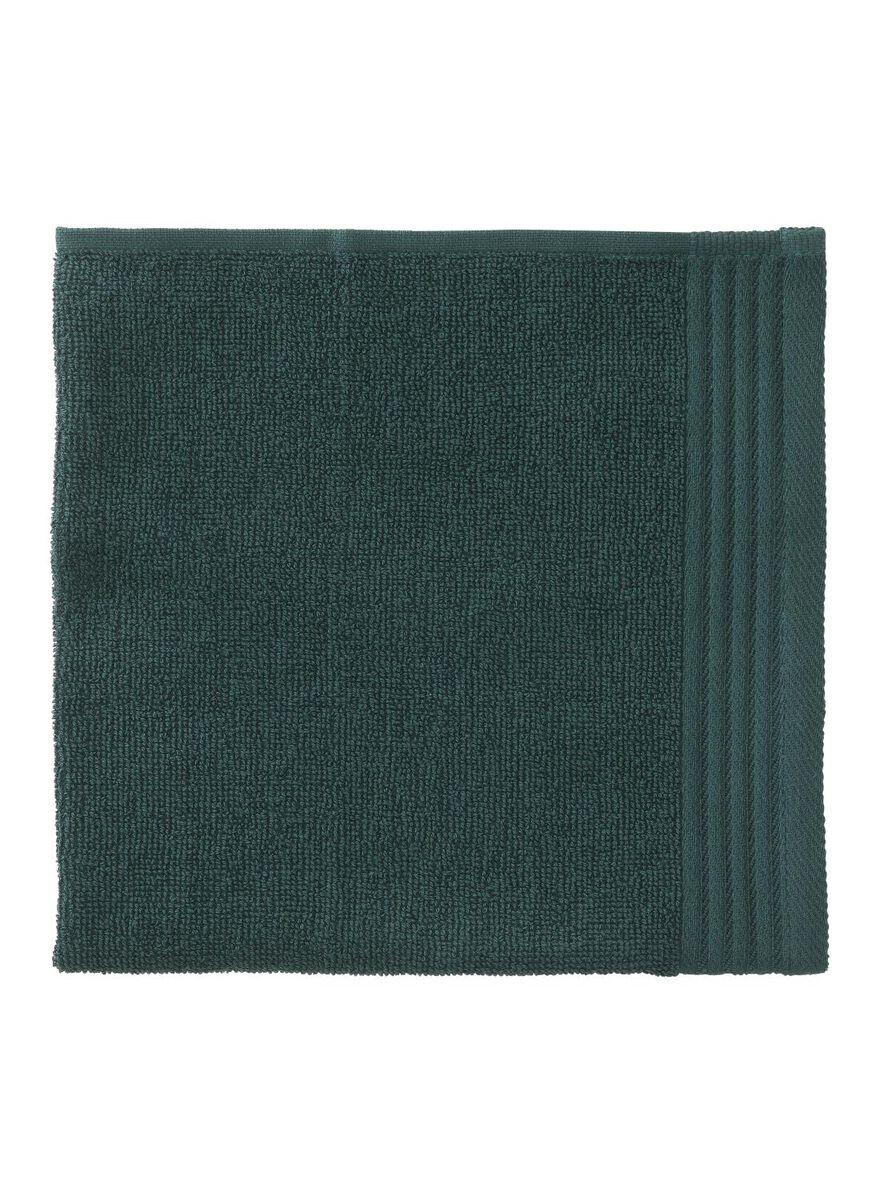 8 stuks.  Keukendoek - 50 x 50 - katoen - groen