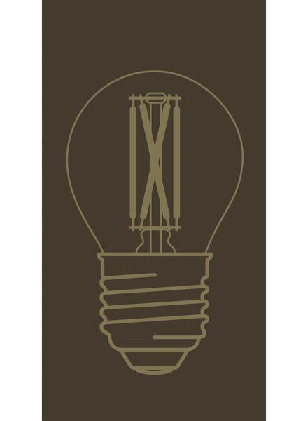 LED lamp 3,5W - 200 lm - kogel - goud - 20020081 - HEMA