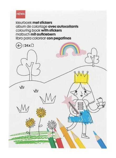 kleurboek met stickers - 15910071 - HEMA