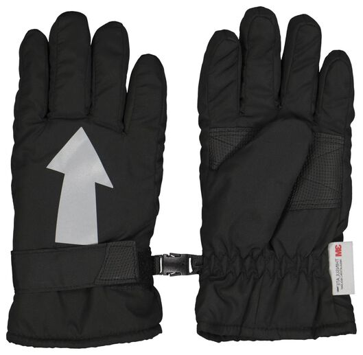 kinderhandschoenen pijl zwart zwart - 1000020549 - HEMA