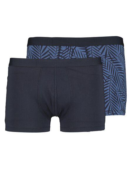 2-pak herenboxers kort blauw blauw - 1000013809 - HEMA