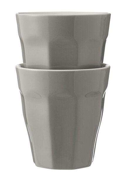 mokken - 250 ml - Mirabeau - lichtgrijs - 2 stuks 25cl lichtgrijs - 9680058 - HEMA