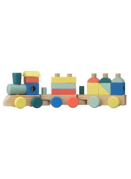 houten vormentrein 44 x 9 x 13 cm - 15110330 - HEMA