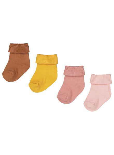 4-pak babysokken roze roze - 1000015032 - HEMA
