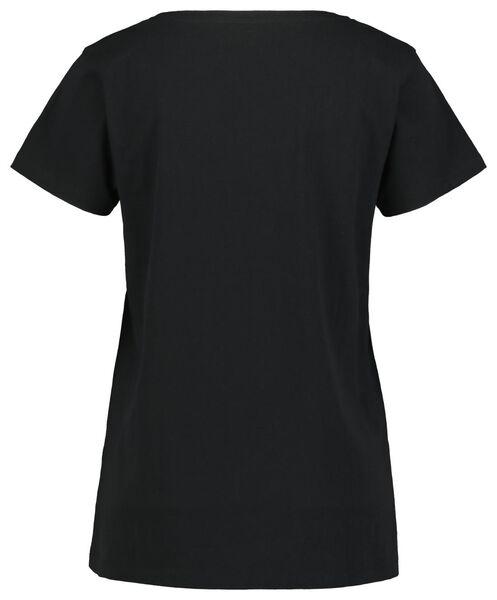 damespyjama sterren zwart L - 23400563 - HEMA