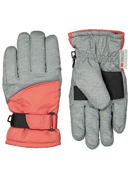 kinderhandschoenen grijsmelange - 1000014468 - HEMA