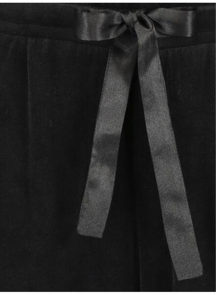 dames pyjamabroek zwart zwart - 1000016928 - HEMA