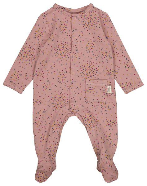 newborn jumpsuit sweat met bamboe roze 44 - 33427411 - HEMA