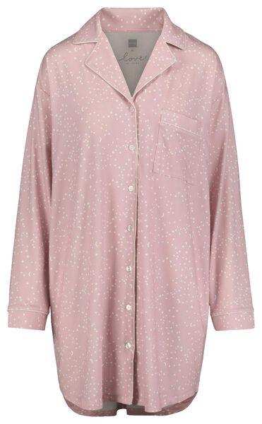 damesnachthemd lichtroze lichtroze - 1000018751 - HEMA