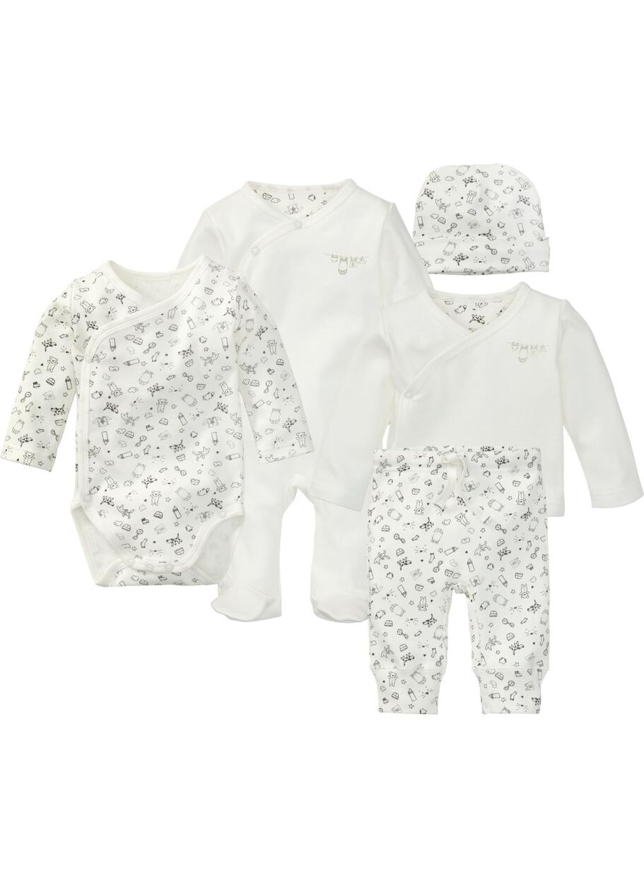 Babykleding Setjes.Newborn Set Wit Hema